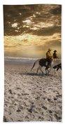 Strolling Horses Beach Towel