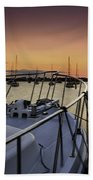 Stuart Marina At Sunset Beach Towel