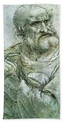 Study For An Apostle From The Last Supper Beach Towel