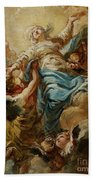 Study For The Assumption Of The Virgin Beach Towel