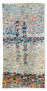 Study For The Channel At Gravelines Evening Beach Towel
