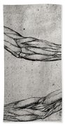 Study Of Arms Beach Towel by Leonardo Da Vinci