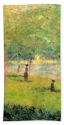 Study On La Grande Jatte Beach Towel
