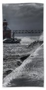 Sturgeon Bay After The Storm Beach Towel by Joan Carroll