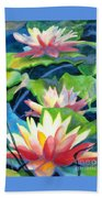 Styalized Lily Pads 3 Beach Towel
