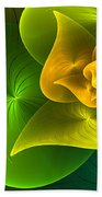 Stylized Philodendron Beach Towel