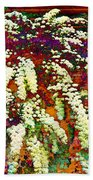 Stylized Spirea - Flowering Plant - Gardener Beach Towel