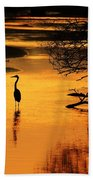 Sublime Silhouette Beach Towel