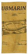 Submarine Patent 3 Beach Towel