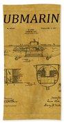 Submarine Patent 5 Beach Towel