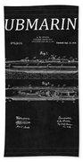 Submarine Patent 8 Beach Towel