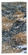 Submerged Stone Abstract Beach Towel