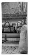 Such A Long Journey Bw Beach Towel