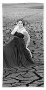 An Image Of Elegance Black And White Beach Towel