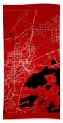 Sudbury Street Map - Sudbury Canada Road Map Art On Color Beach Towel