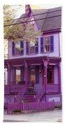 Sugar Plum Purple Victorian Home Beach Towel