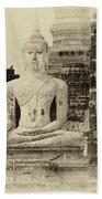 Buddha Sukhothai Thailand 1 Beach Towel