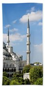 Sultan Ahmed Mosque Landmark In Istanbul Turkey Beach Towel