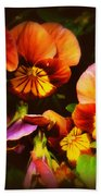 Sultry Nights - Flower Photography Beach Sheet