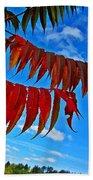 Sumac Red Beach Towel