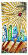 Summer Break By Madart Beach Towel by Megan Duncanson