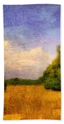 Summer Country Landscape Beach Towel