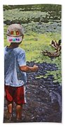 Summer Day At The Pond Beach Towel