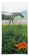 Summer Day Memories With The Paso Fino Stallion Beach Towel by Patricia Keller