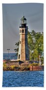 Summer Day View Of The Lighthouse  Beach Towel