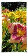 Summer Daylilies Beach Towel
