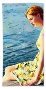 Summer Eve Beach Towel