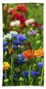 Summer Flowers Beach Towel