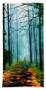 Summer Forest - Palette Knife Oil Painting On Canvas By Leonid Afremov Beach Towel