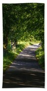 Summer Forest Road Beach Towel