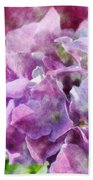 Summer Hydrangeas With Painted Effect Beach Towel