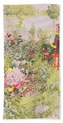 Summer In Sundborn Beach Towel by Carl Larsson