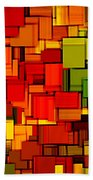Summer Modern Abstract Art Xviii Beach Towel by Lourry Legarde