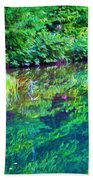 Summer Monet Reflections Beach Towel