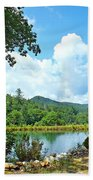 Summer Mountain Pond 2 Beach Towel