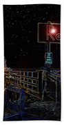 Summer Night At The Pier Beach Towel