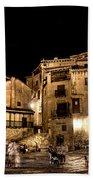 Summer Night In Albarracin Spain Beach Towel