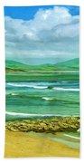 Summer On The Irish Coast Beach Towel