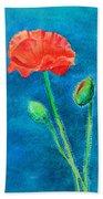 Summer Poppy Beach Towel
