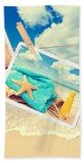 Summer Postcards Beach Towel