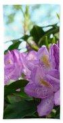 Summer Rhodies Flowers Purple Floral Art Prints Beach Towel
