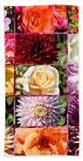 Summer Roses And Dahlias 2013 Beach Towel
