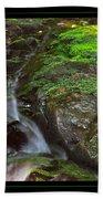 Summer Stream Waterfall Beach Towel