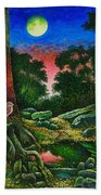 Summer Twilight In The Forest Beach Towel