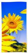 Summertime Sunflowers Beach Sheet