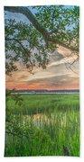 Summertime Sunset Beach Towel